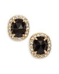 kate spade new york | Black 'park Lex' Stud Earrings | Lyst