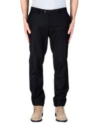 GAUDI | Black Casual Trouser for Men | Lyst
