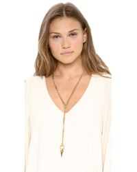 Lady Grey - Metallic Axis Necklace Gold - Lyst