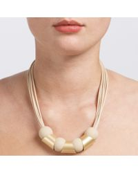 John Lewis - Metallic Mixed Shapes Cord Necklace - Lyst