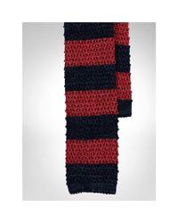 Polo Ralph Lauren   Blue Striped Knit-silk Tie for Men   Lyst