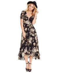 Denim & Supply Ralph Lauren   Multicolor Floral-print Wrap Maxi Dress   Lyst