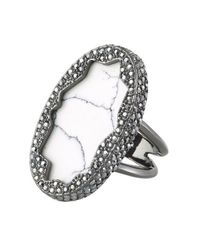 House of Harlow 1960 - Gray Tanga Coast Cocktail Ring - Lyst