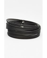 Alor | Black Coil Bangle | Lyst
