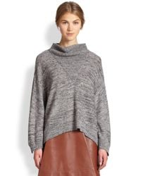 3.1 Phillip Lim - Gray Marled Mohair Cowlneck Sweater - Lyst