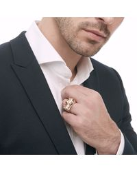 John Hardy - Metallic Legends Naga Ring In Silver And Bronze for Men - Lyst