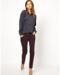 M.i.h Jeans   Blue The Yves Shirt   Lyst