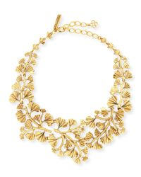 Oscar de la Renta | Metallic Gold-plated Fern Necklace | Lyst