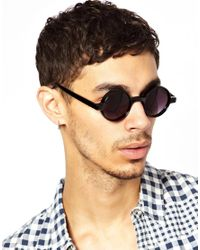 ASOS | Black Chunky Round Sunglasses for Men | Lyst