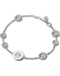 Georg Jensen | Metallic Daisy Sterling Silver And Enamel Bracelet | Lyst