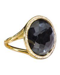 Ippolita | Metallic Rock Candy 18k Gold Mini Lollipop Diamond Ring Hematite | Lyst
