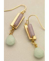 Anthropologie | Green Lilac Trinket Earrings | Lyst