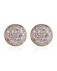 Astley Clarke | Pink Round Diamond Earrings | Lyst