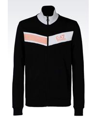 EA7 - Blue 7colours Line Full Zip Sweatshirt for Men - Lyst
