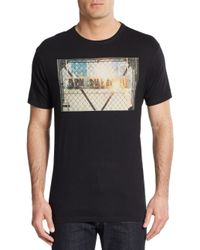 Ben Sherman | Black Fire Graphic Tee for Men | Lyst