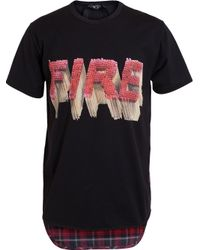 N°21 | Pink Fire Print T-shirt for Men | Lyst