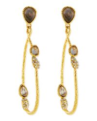 Alexis Bittar | Metallic Vine Link Earrings With Labradorite | Lyst