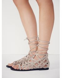 Free People - Natural Great Lengths Sandal - Lyst