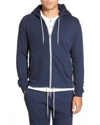 Michael Stars | Blue Zip Hoodie for Men | Lyst