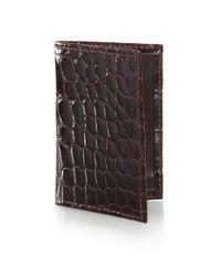 Saks Fifth Avenue - Brown Alligator Card Case for Men - Lyst