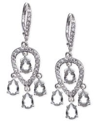 Judith Jack | Metallic Sterling Silver Crystal And Cubic Zirconia Small Chandelier Earrings | Lyst