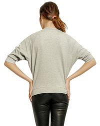 Lin Art Project | Gray Jersey Embroidered Sweatshirt | Lyst