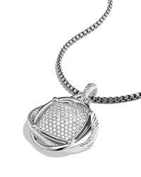 David Yurman - Metallic Infinity Large Pendant With Diamonds - Lyst