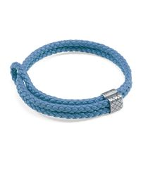 Bottega Veneta | Blue Men's Woven Leather Bracelet | Lyst