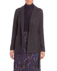 Joie - Gray Desi Dean Wool-blend Jacket - Lyst