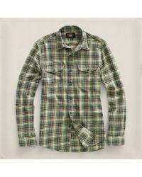 RRL | Green Lee Workshirt for Men | Lyst