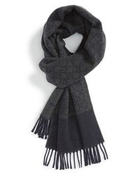 Ferragamo | Gray 'Gandam' Cashmere Scarf for Men | Lyst