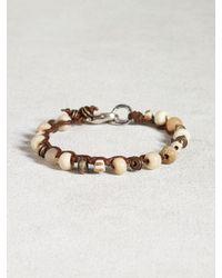 John Varvatos - White Bone & African Trade Bead Bracelet for Men - Lyst