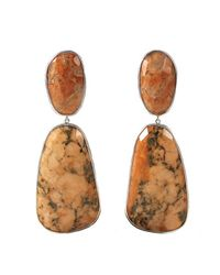 Adornia - Orange Felspar Mercy Earrings - Lyst