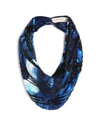 Mignonne Gavigan | Watercolor Stripes Mignight Blue Necklace | Lyst