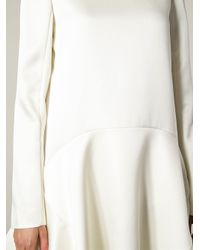 Chloé - White Flared Crepe Dress - Lyst