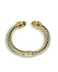 David Yurman | Metallic Renaissance Bracelet In Gold, 10mm | Lyst