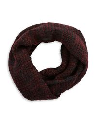 John Varvatos | Textured Knit Loop Scarf for Men | Lyst