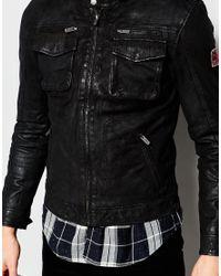 Pepe Jeans - Black Harvey Leather Jacket for Men - Lyst