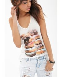 Forever 21 - Pink Donut Daze Sheer Tank You've Been Added To The Waitlist - Lyst