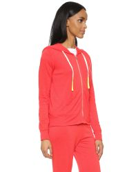 Sundry | Red Zip Front Pocket Hoodie - Sunset | Lyst