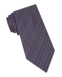 John Varvatos | Purple New Gingham Tie for Men | Lyst