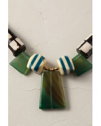 Anthropologie | Green Alexandria Bib Necklace | Lyst