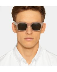 Marni - Gray Square-Frame Acetate Sunglasses for Men - Lyst