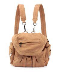 Alexander Wang - Brown Marti Mini Nubuck Backpack - Lyst