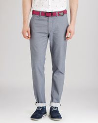 Ted Baker | Blue Rurisk Slim Fit Chinos for Men | Lyst