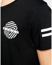 Jack & Jones - Black Skater T-shirt With Back Print for Men - Lyst