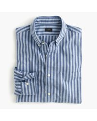 J.Crew | Blue Slim Secret Wash Shirt In Bold Stripe for Men | Lyst