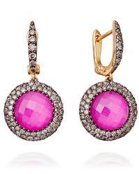 Astley Clarke - Pink Mini Ruby Connie Earrings - Lyst
