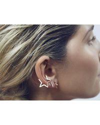 Tada & Toy | Metallic Silver Star Cuff | Lyst