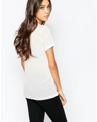 SELECTED | Natural Rosmina Short Sleeved Tee | Lyst